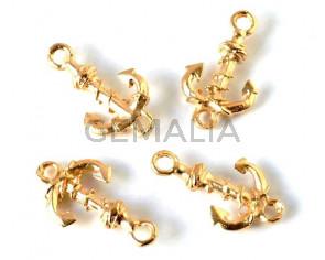 Zamak. Connector. Anchor. 26x14mm. Gold. Inn.2.5mm.