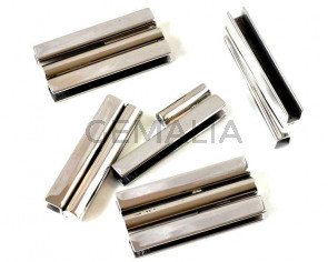 Stainless steel. 304. Magnetic clasp.Flat.40x19x6mm.Silver.Inn.39x4mm
