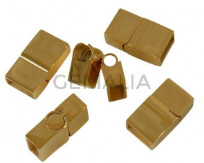 Stainless steel 304. Magnetic clasp. 21x12x7.5mm. Gold. Inn.10x5mm.