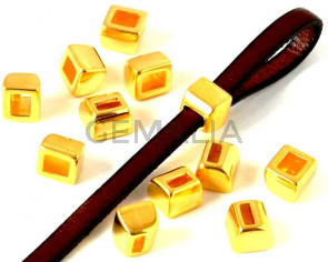 Zamak. Loop component for stripe. 8x9mm. Gold. Inn.5x2mm.