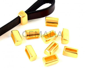 Zamak. 14x8x6.5mm. Gold. Inn.10x2.2mm/10x4mm