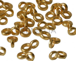 Zamak. 5x8mm. Gold. Inn.2.2mm.