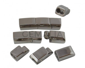 Stainless steel 304.Magnetic clasp.Rectangle.30x8x7mm.Silver.Inn.6x3mm
