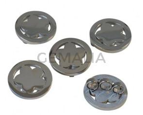 Stainless steel 304. Coin. Flower. 23.5x10mm. Silver. Inn.5mm.