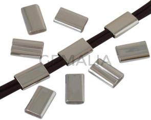 Brass. Tube. 13x7mm. Silver. Inn.5.8x2mm.