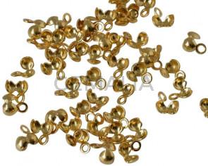 Brass. 5.5x3.5mm. Gold. Inn.1mm.