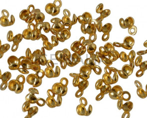 Brass. 5.5x4mm. Gold. Inn.1mm.