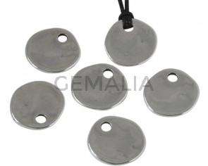Zamak. Pendant. Coin. 22mm. Silver. Inn.4mm.