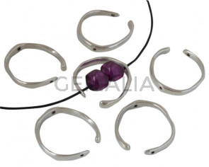 Zamak. Irregular. 40x28mm. Silver. Inn.1.9mm.