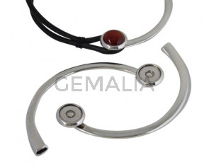 Zamak. Half necklace. 13.5cm. Coin. 25mm. No stone. 20mm.