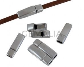Magnetic clasp Zamak. 17x5mm. Silver. Inn.3x1.5mm. Bulk Price.