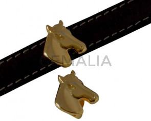 Zamak. For horse. 13x14.5mm. Gold. Inn.10x2.5mm.