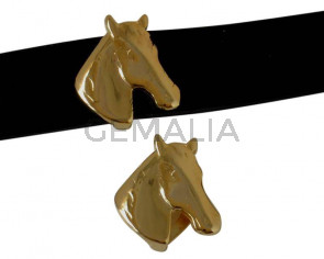 Zamak. For horse. 26x27mm. Gold. Inn.20x2.5mm.