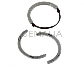 Zamak. Half bracelet. Magnetic. 58x34mm. Silver. Inn.1.8mm.