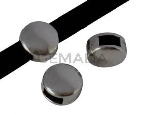 Zamak coin. Slider. 9mm. Silver. Inn.5x2.5mm