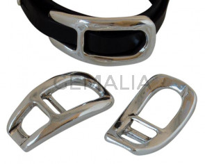 Zamak. 52x26mm. Silver. For 10mm leather cord