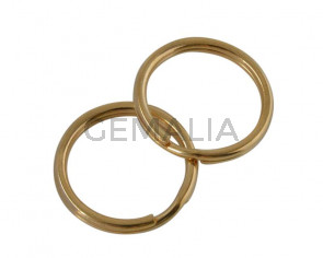 Stainless steel 304. Key split ring. 20x20x1.5mm. Gold