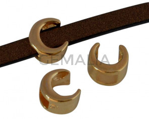 Zamak slider. Moon. 5.5x6mm. Gold. Inn.3x2mm