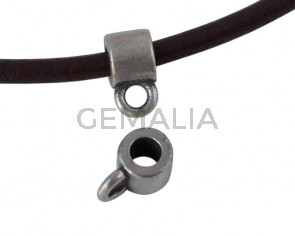 Zamak tube pendant 5x5mm - Inn.3mm/2mm