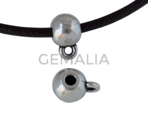 Zamak round bead pendant 8mm - Inn.2mm/2mm