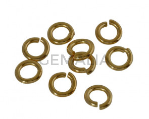 Brass jump ring open. Round 6x6x1.2mm. Gold. Inn.3.6mm