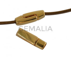 Magnetic clasp Zamak. Flat 17x5mm. Gold. Inn.3x2mm. Bulk Price.