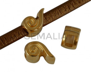 Metal slider Zamak 8x5.5mm. Gold. Inn.3x2mm