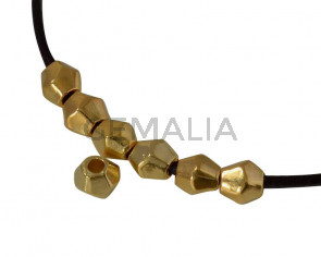 Bead Zamak rombus 4x4mm. Gold. Inn.1.5mm