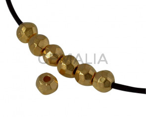 Rondelle bead brass 4x4.5mm. Gold. Inn.1.5mm