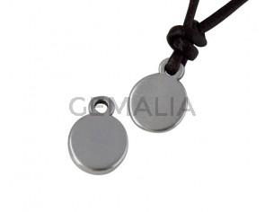 Pendant Zamak coin 11x8mm. Silver. Inn.1.8mm