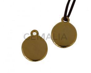 Pendant Zamak coin 16x13mm. Gold