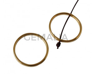 Irregular Ring Zamak 32mm. Gold. Int.1.5mm