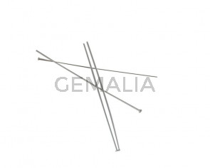 Brass headpin. 50x0.7mm. Silver