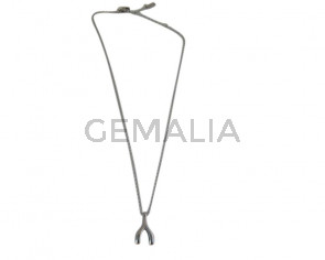 Stainless Steel necklace 316L. Short 15.7inch. Silver
