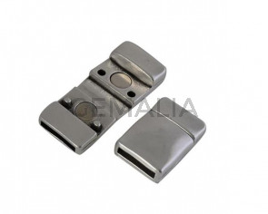 Magnetic clasp Zamak 19.3x13.5mm. Silver. Inn 10x2mm. Bulk Price.