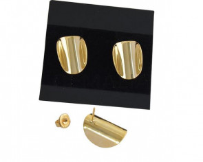 Earrings. Brass 19x13mm. Gold. Top Quality
