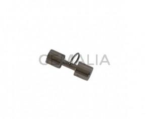 Weight pendant. Stainless Steel 316L. 30x10mm. Plateado. Inn.8mm
