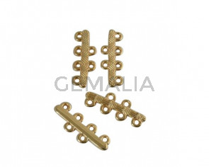 Bar with wave with 6 rings. Zamak. Gold. Inn.1.5mm