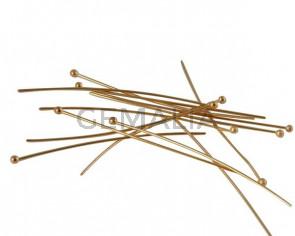 Brass ballpin 50x0.7mm. Gold.