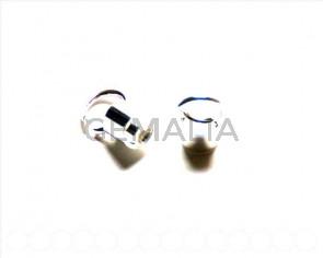 928 SILVER. Round end cap / open ring. Inn. 5mm 6 PCs
