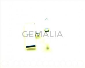 926 SILVER.End cap.21x2.8mm. Silver color. Inn. 20x2mm.