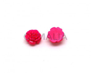 Resin. Cabochon. Flower.11x5mm.