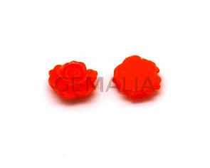 Resin. Cabochon. Flower.11x11x4mm. 1