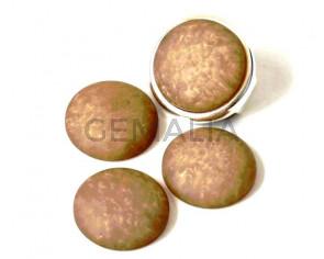 Resin. Cabochon. 20mm. Matt light brown. Best Quality.
