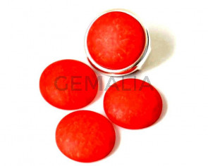 Resin. Cabochon. 20mm. Matt coral. Best Quality.