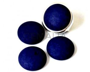 Resin. Cabochon. 20mm. Matt navy blue. Best Quality.