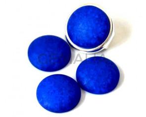 Resin. Cabochon. 20mm. Matt blue. Best Quality.