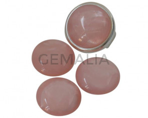 Resin. Cabochon. 20mm. Pearl light pink. Best Quality.