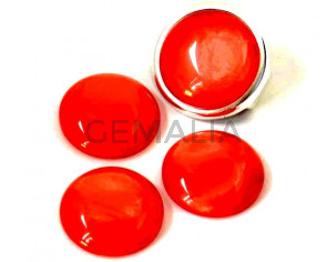 Resin. Cabochon. 20mm. Pearl coral. Best Quality.