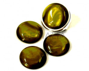 Resin. Cabochon. 20mm. Pearl dark olive. Best Quality.